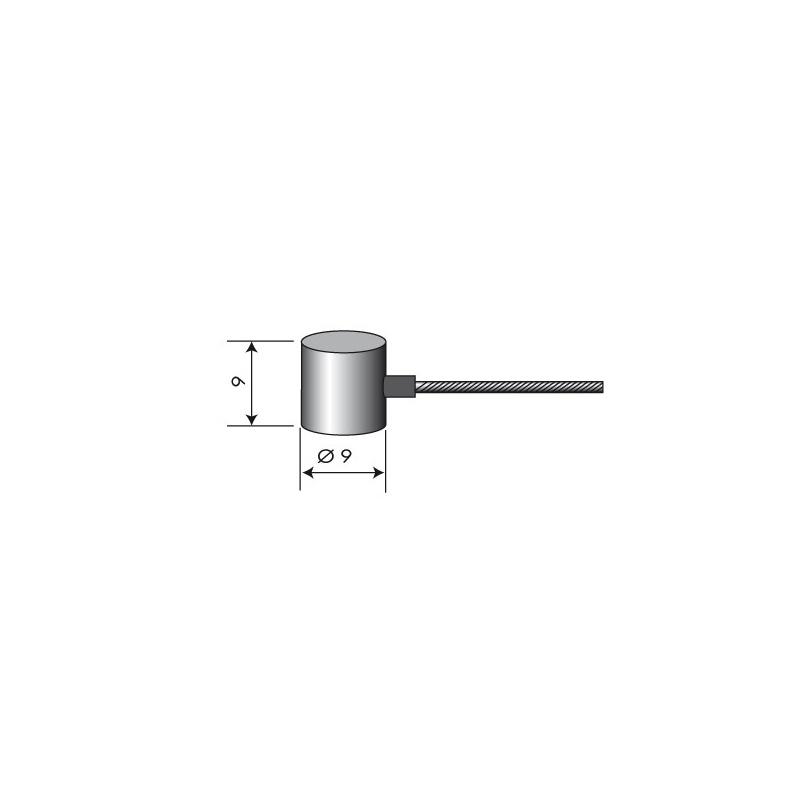 Câble souple Ø 2 mm. L : 2,5 m. Embout tonneau  9 x 9 mm.