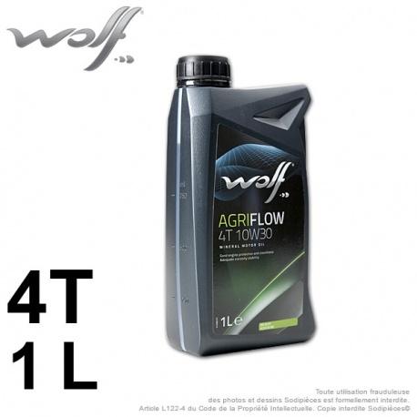 Huile moteur 4 temps 10W30 WOLF Agriflow – 1 litre