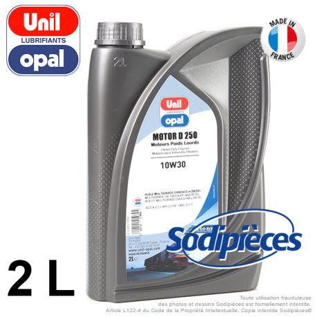 Huile moteur 4 temps 10W30 Unil Opal D250 – 2 litres