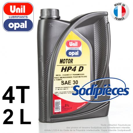 Huile moteur 4 temps SAE30 Unil Opal HP4D – 2 litres