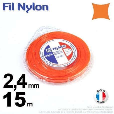 Fil nylon carré 2,4 mm x 15 m – FIL NYLON
