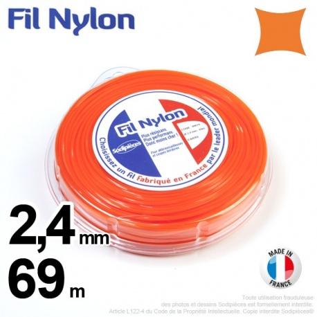 Fil nylon carré 2,4 mm x 69 m – FIL NYLON