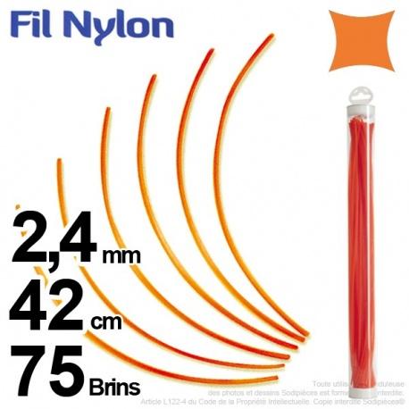 Fil nylon carré 2,4 mm x 42 cm. Lot de 75 brins – FIL NYLON