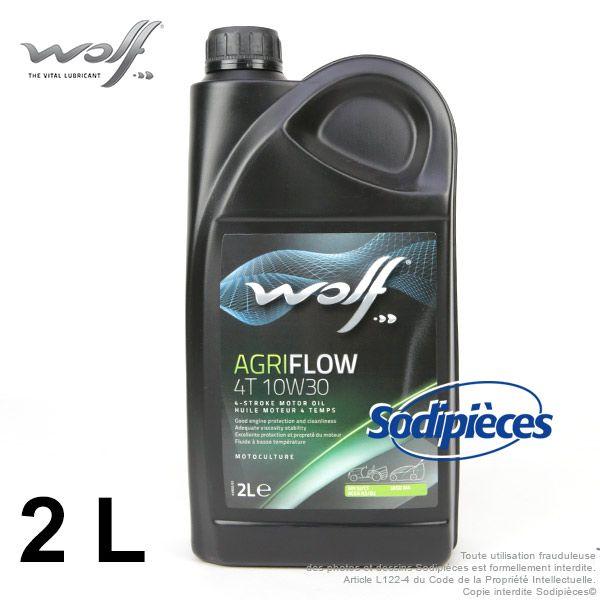 Huile moteur 4 temps 10W30 SJ WOLF Agriflow – 2 litres