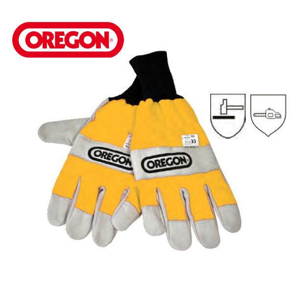 Gants de protection tronçonneuse Oregon. Taille M, L, XL.