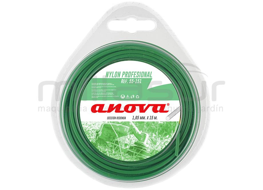 Fil nylon rond 1,65 mm x 15 m pour débroussailleuse – ANOVA