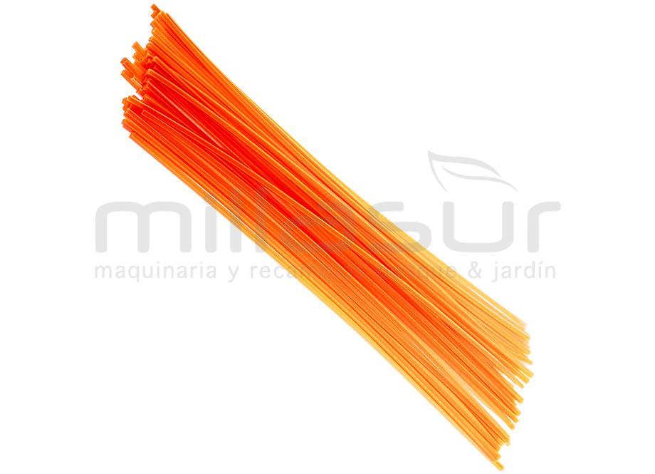 Fil nylon carré 3 mm x 42 cm. Lot de 50 brins pour débroussailleuse – ANOVA