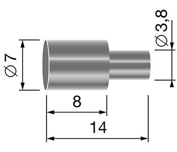 Butée pour gaine Ø 6mm