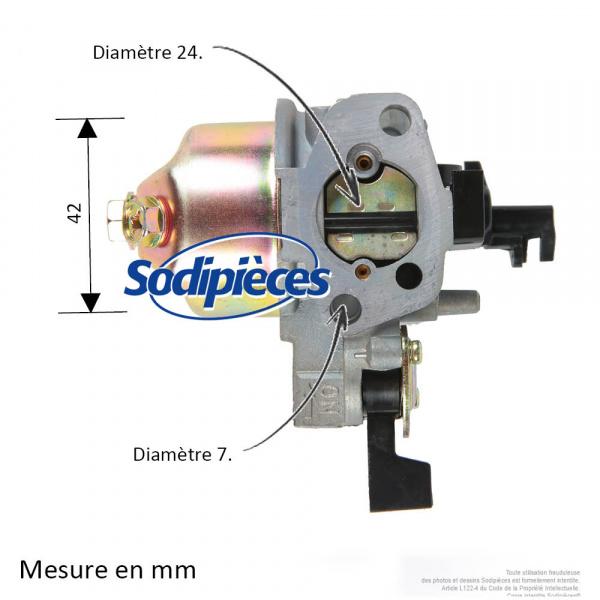 Carburateur pour Honda GX110, GX120, 16100-ZH7-810, 16100-ZE0-821