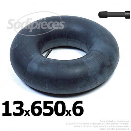 Chambre à air 13 x 650 x 6 valve droite