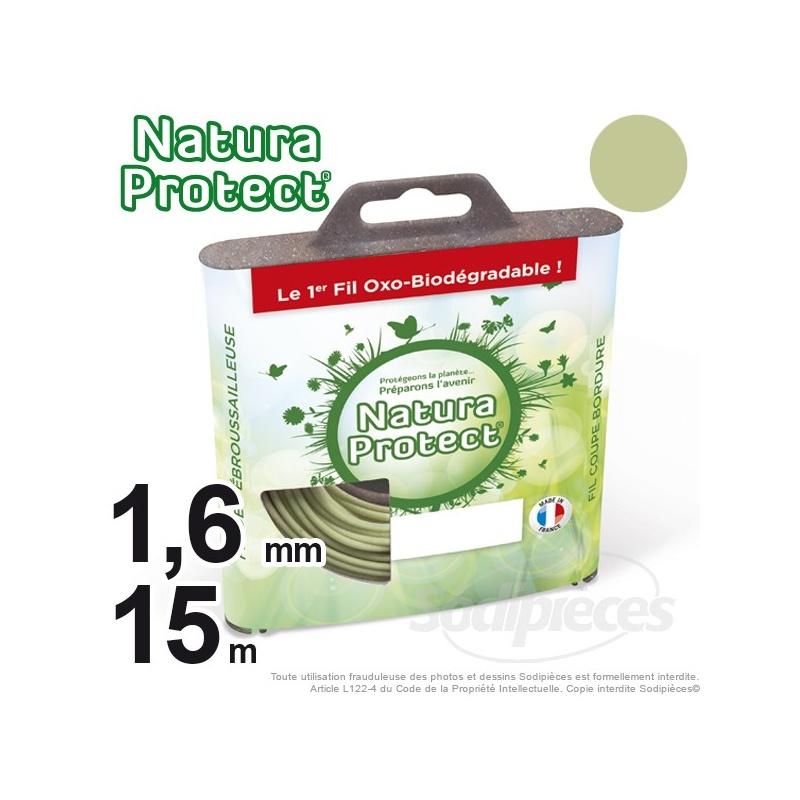 Fil oxo-biodégradable rond 1,6 mm x 15 m pour débroussailleuse – Natura Protect