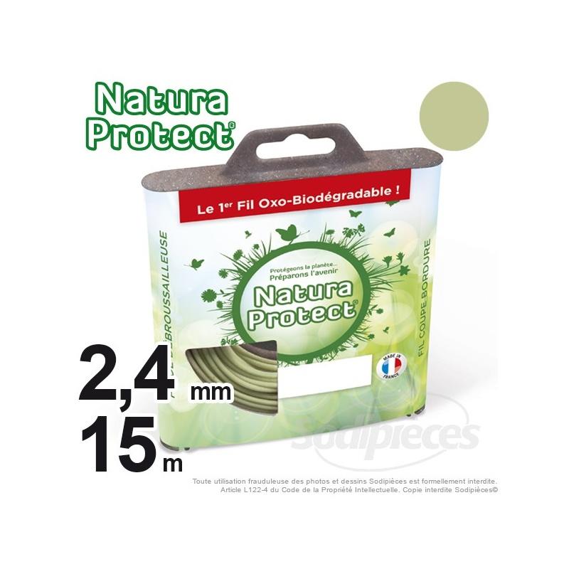 Fil oxo-biodégradable rond 2,4 mm x 15 m pour débroussailleuse – Natura Protect