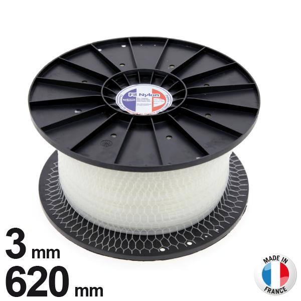 3mm x 620m Fil nylon rond pour débroussailleuse