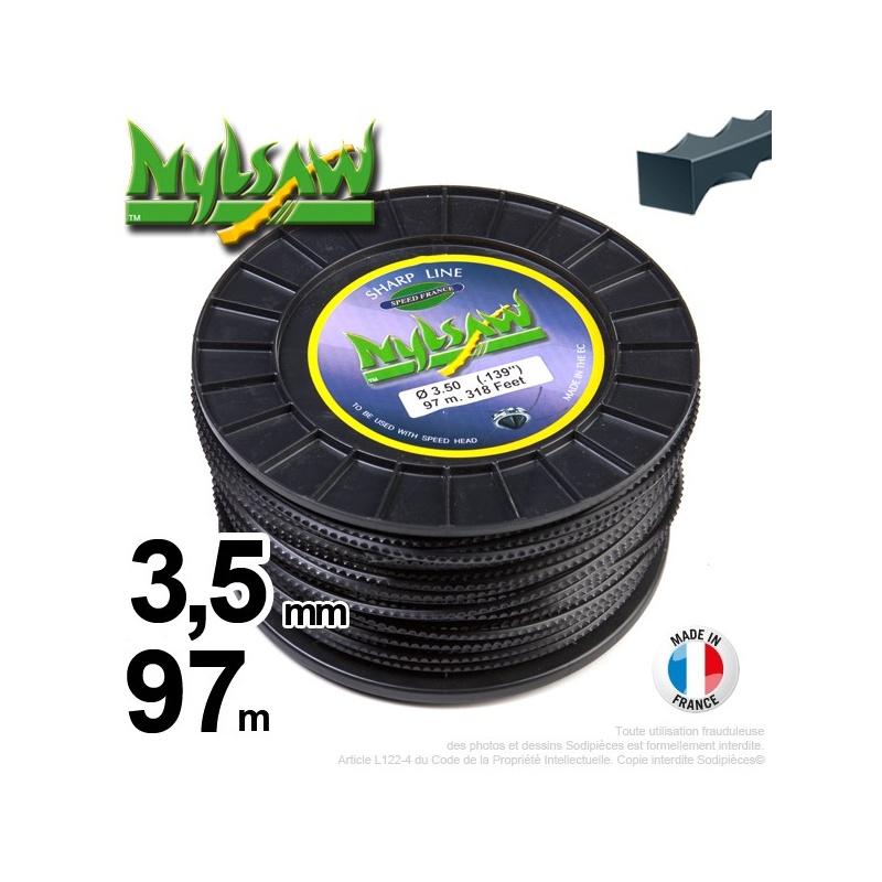 3,5mm x 97m Fil nylon Nylsaw pour débroussailleuse