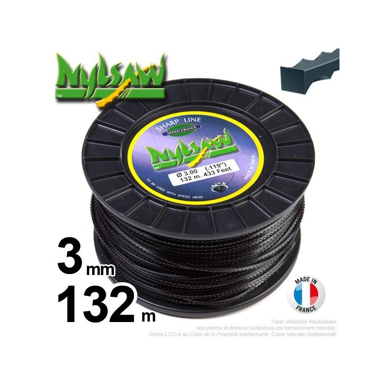 3mm x 132m Fil nylon Nylsaw pour débroussailleuse