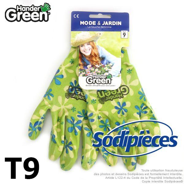 Gants de protection, mode & jardin. HanderGreen Taille 9
