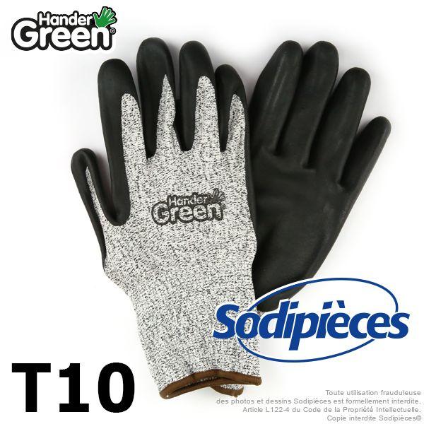 Gants de jardinage, super résiste. HanderGreen Taille 10