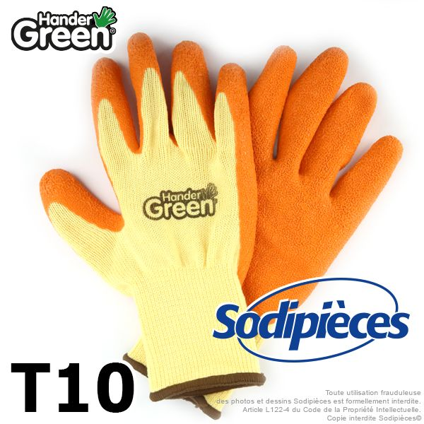 Gants de jardinage, travaux délicats. HanderGreen Taille 10