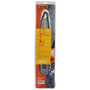 Guide 35 cm + chaine 3/8LP, 050 (1,3mm), 50 entraîneurs, Ozaki montage C