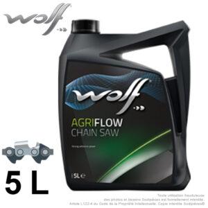 Huile de chaîne WOLF AGRIFLOW 5 L