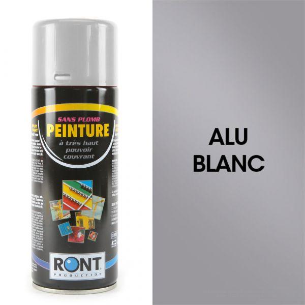 Bombe de peinture alu blanc carter 400 ml – RONT