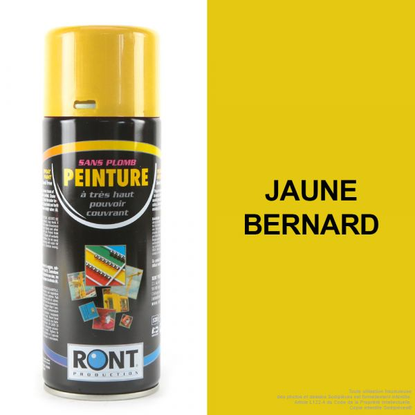 Bombe de peinture jaune Bernard 400 ml – RONT
