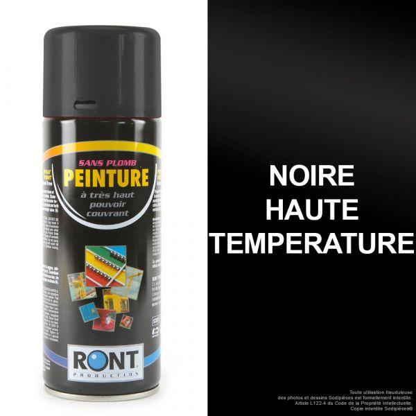 Bombe de peinture noir haute température 400 ml – RONT