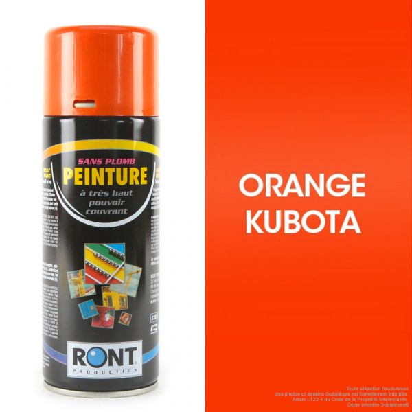 Bombe de peinture orange Kubota 400 ml – RONT